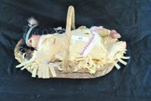 NATIVE AMERICAN PORCELAIN COLLECTOR DOLL