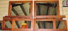 LOT OF 8 DECOR WOOD FRAMED MIRRORS
