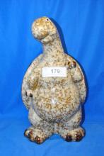 GLAZED POTTERY DECOR  TURTLE