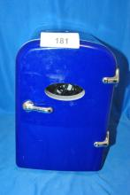 MINI PORTABLE BLUE FRIDGE