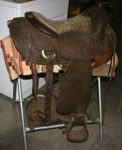 GENIUNE LEATHER WESTERN ROWELL SADDLE CO