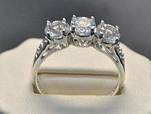 .925 Sterling White topaz ring. This Sterling