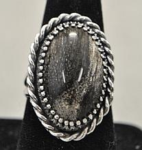 .925 Sterling handmade ring. The ring features an