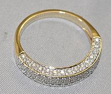 14KY Gold 3/4 CTW Diamond band. This lovely ring