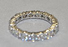 .925 Sterling Silver CZ eternity band. The ring