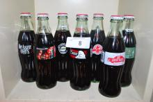 LOT OF COMMEMORATIVE COCA-COLA BOTTLES