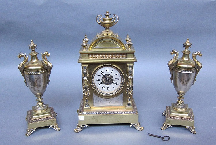 LATE 19TH C. ELKINGTON CLOCK SET