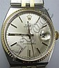 ROLEX 14K GOLD MENS WRIST WATCH: With flexible gold band.