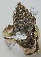RING: Gold and diamond in the form of a grapevine.