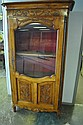 Country French Carved Fruit Wood Cabinet 78 3/4
