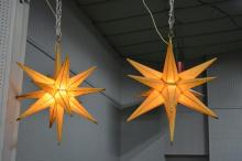 Dept. Store Lighted Compass Stars X2 28