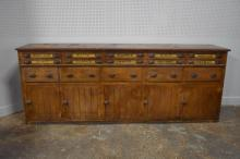 Very Unsual Store Counter w/ Spool Cabinets 44 1/2