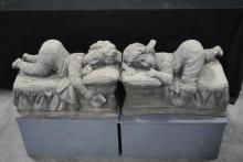 Concrete Statues -Baby Sleeping on Pillow X2 14 1/2