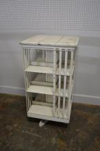 Painted Revolving Book Shelf 45 3/4