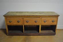 Painted Store Counter w/ Drawers 33 1/2