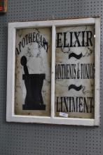 Apothecary Sign Painted on Glass 32