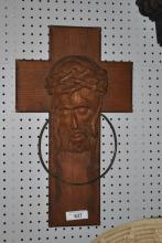 Finely Carved Religious Cross 24