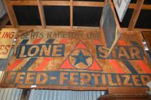 Lone Star Feed Sign- Tin