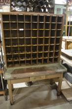 Industrial Mail Sorting Desk