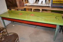 Folky Painted Farm Table