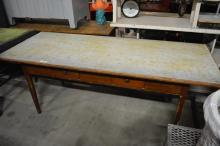 Painted Farm Table w/ Drawers