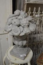 Concrete Fruit Basket Finial