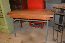 Butcher Block Top Work Table