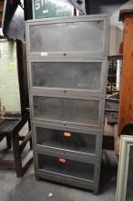 Industrial Metal Stacking Bookcase