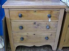 A Reclaimed Waxed Pine Chest of Drawers, the chest