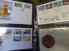 Seven albums of GB first day covers.
