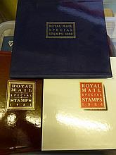 Ten Royal Mail stamp year books 1984 - 1993  ( inc