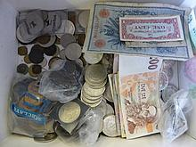 A Box of Coins and Bank Notes, most obsolete but s