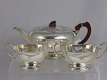 An Art Deco Solid Silver Tea Set, Sheffield hallma