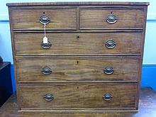 A Victorian Mahogany Chest of Drawers, having two