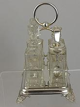 A collection of assorted silver plate including a