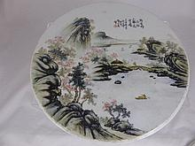 A Pair of Chinese Circular Porcelain Plaque, depic