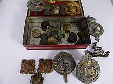 A Quantity of Original Military Badges and Buttons