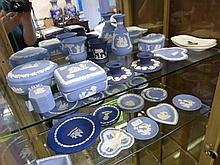 A Quantity of Wedgewood Jasperware, including lidd