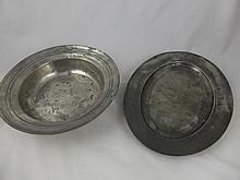 Five vintage copper, pewter and other metal items