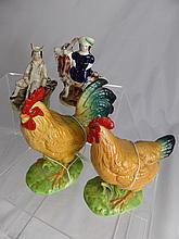 Miscellaneous Porcelain Figures including a shephe