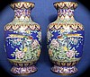 Pair of Outstanding 19th Century Cloisonné Vases,