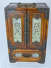 Chinese Vintage Jewellery Cabinet, with decorative