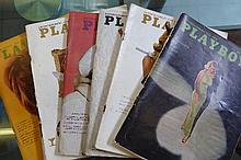 Collection of 1966 American Playboy Magazines
