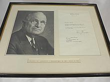 Autographed Letter and Photograph, from President