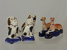 Antique Staffordshire Figures, including two