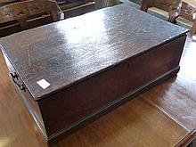 George III circa 1780 Oak Bible/Document Box,