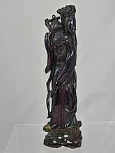 An Antique Chinese Hand Carved Red Amber Figure of
