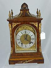 An Antique German Walnut Bracket Clock, the clock