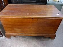 A 19th Century Mahogany American Blanket Chest ,