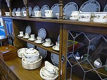 A part Royal Doulton Parchmont dinner service comprising twelve dinner plates